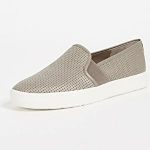 Vince Blair grey leather slip on sneakers size 9
